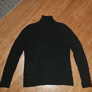 Sak's Fifth Ave black cashmere turtleneck sweater